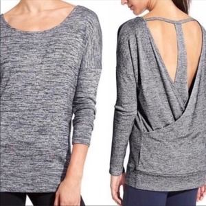 Athleta Pose Heather Crossover T-back Top Size XS